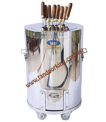 stainless steel charcoal gas tandoor